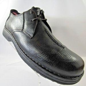 CLARKS Sz 14 Black Lace Up Derby Dress Mens Shoes